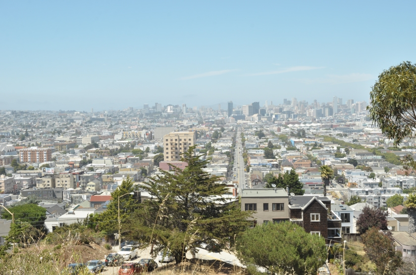 View of San Francisco (Mission Street in the centre) from Bernal Heights  Hill, San Francisco